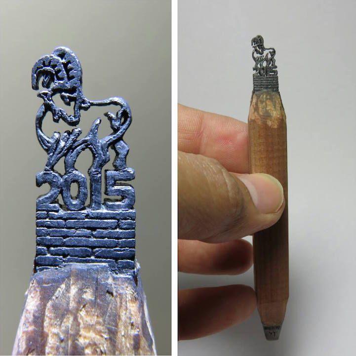 Best Pencil Sculpture Images On Pinterest Pencil Art Pencil - Artist carves miniature pop culture sculptures into pencils