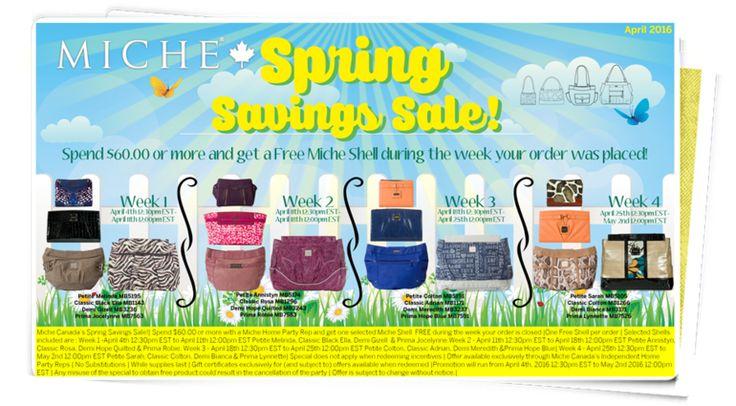 April 2016 Special; Spring Savings Sale!