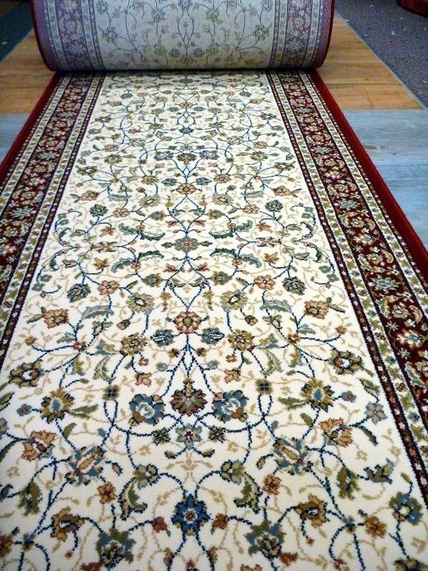 Clearance Ready To Go Hall Runners From End Of Rolls Cream Red Persian Design Elite 80cm Wide Roll Scattermats Hall Runner Rugs On Carpet Natural Rug
