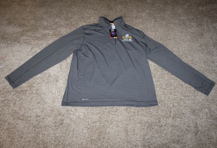 NWT Nike Dri Fit Super Bowl 50 Pullover 1/2 Zip $90 NFL Broncos Panthers X Large #Nike #DenverBroncos