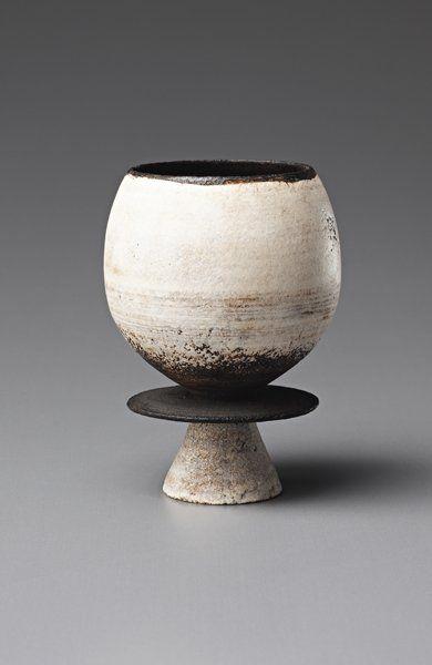 HANS COPER, Composite cup and disc form, c. 1965