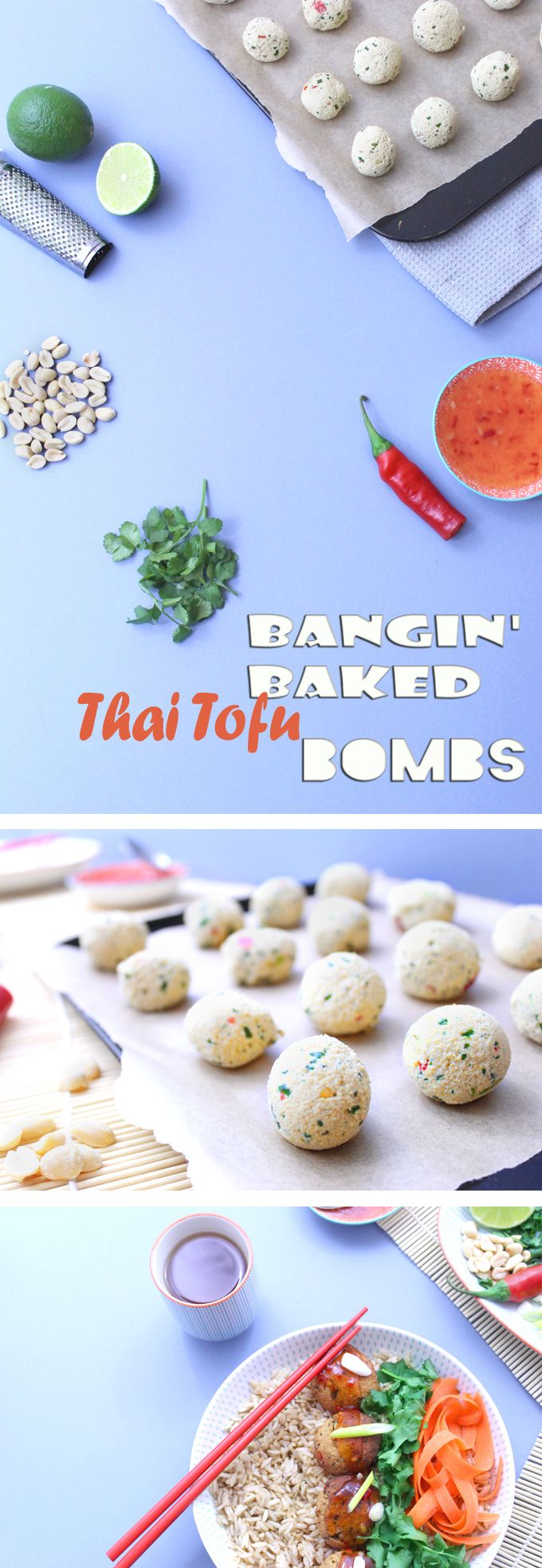 THE best way to enjoy tofu! Bangin' Baked Thai Tofu Bombs - packed with satay flavours and super healthy. #veggie #healthy #vegan #preggieveggie