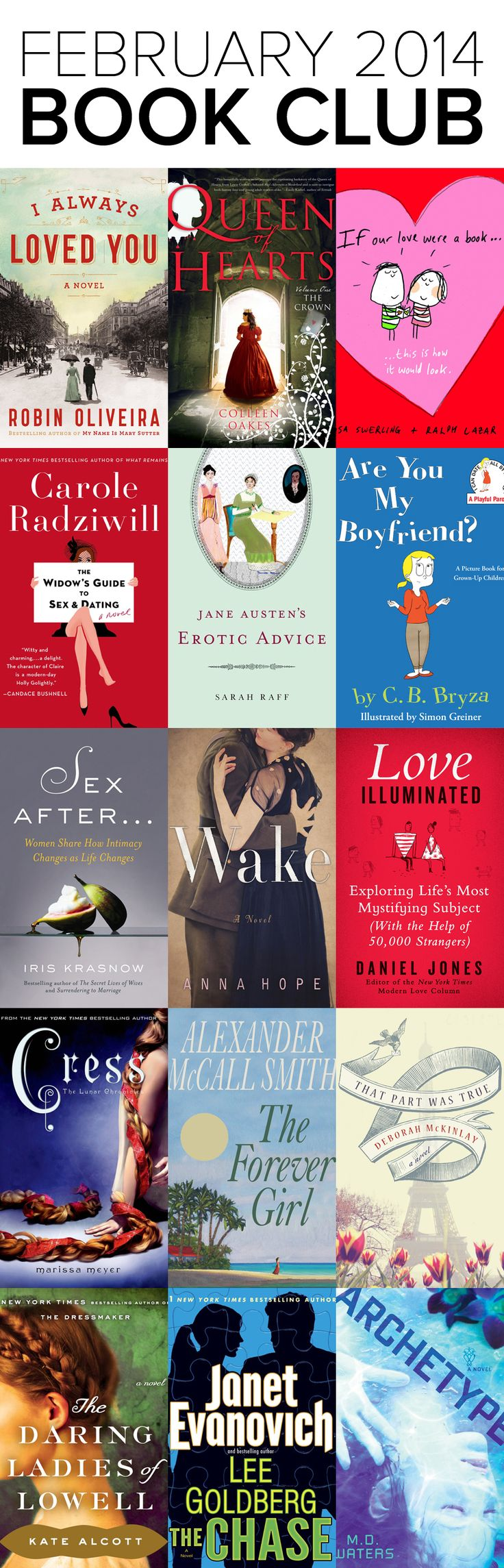Book Club: see the new books out in February 2014! #books #bookclub