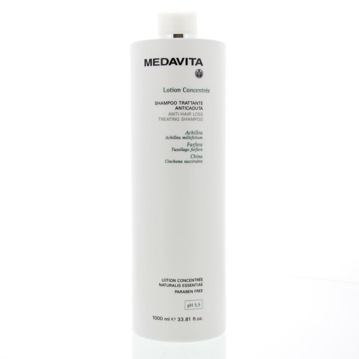 Medavita Lotion Concentrée Original Anti-Hair Loss Treating Shampoo Haaruitval 1000ml  Description: Medavita Lotion Concentrée Anti-Hair Loss Treating Shampoo. Dit product is zeer effectief in het beperken van haaruitval. Deze shampoo bevat een exclusieve bron van actieve ingrediënten. Het voorkomt dat bacteriën een kans krijgen bij het herstel van een kapotte zwakke hoofdhuid of een hoofdhuid met wonden of eczeem.Ook bevordert het een gezonde haargroei en zal haaruitval worden geremd…