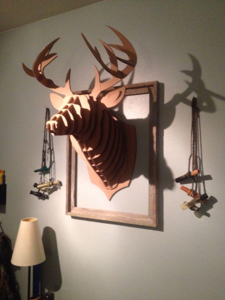 Cardboard taxidermy form 19.00 on eBay. Hunting theme bedroom for my Gabe