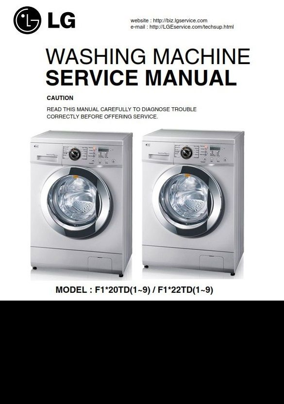Lg F1222td5 Washing Machine Service Manual Washing Machine Service Washing Machine Repair Guide