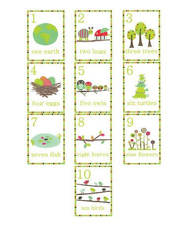 Loving this English One-to-Ten Number Wall Cards on #zulily! #zulilyfinds