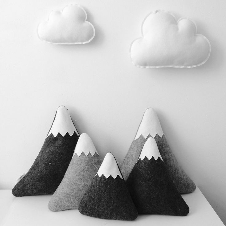 Our mountain pillows are back in stock! ✨ combine them with our cloud pillows to make an sweet & cozy nook!