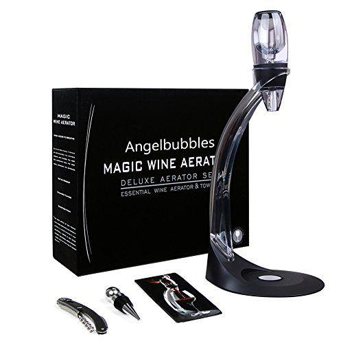 Angelbubbles aérateur de vin Décanteur + Tire-bouchon + bouchon de bouteille + Tour et support: QUALITÉ ET MATÉRIAUX SÉCURITAIRES: verseur…