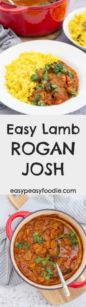Lamb Rogan Josh is definitely one of my favourite curries, whether I'm making it at home or getting it in takeaway form. I love the vibrant mix of spices and the melt-in-your mouth lamb, but I also love it because it is really simple to make - or at least my version is! #lamb #roganjosh #lambrogan #lambroganjosh #lambcurry #easydinners #midweekmeals #familydinners #easypeasyfoodie