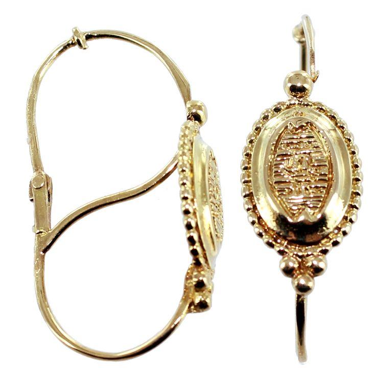 """Boucles Poissardes Les Poissardes sont de grands pendants d'oreilles ovalisés et articulés, que l'on rencontre à partir de 1830. Ils sont à rapprocher des """"dames de la halle, les poissardes, qui manifestaient leur aisance en étalant de lourds et voyants bijoux en or, des dentelles, des soies de couleur criardes""""."""