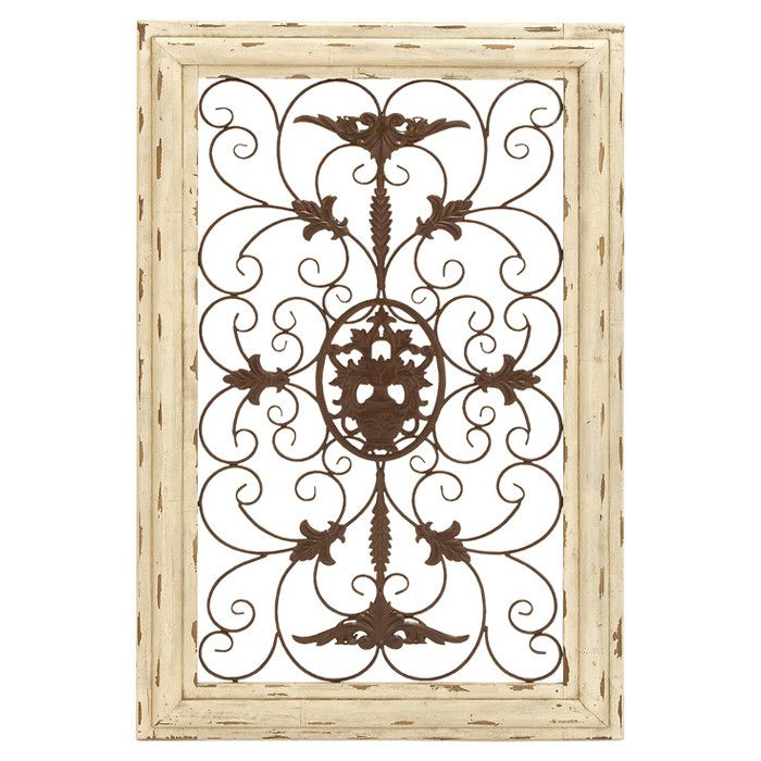 Weathered Metal Wall Decor - love this!