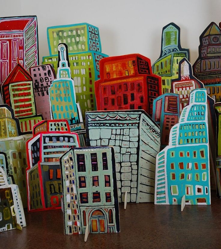 adapt for students using cardboard, then becomes a collaboration project where we stage a city with everyone's creation