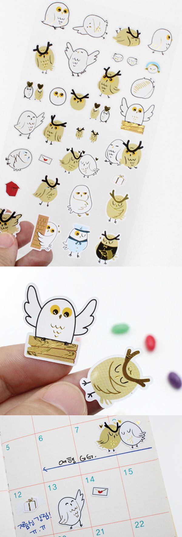 The owls in Twin Owl Petit Sticker are super cute owls that keep me accompanied any time of the day. Whenever I apply them, I always feel like they are protecting me even late at night!