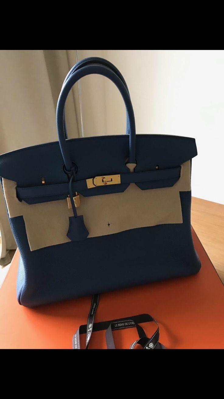 Birkin 35 bleu Agathe taurillon