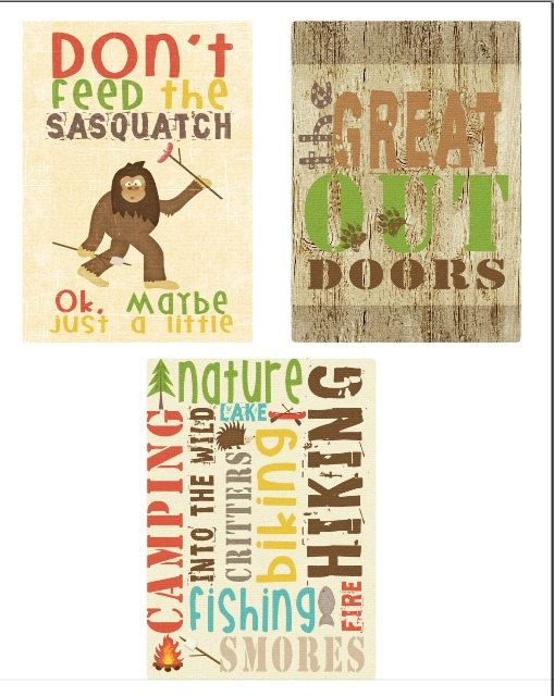 The Great Outdoors Wall Art Prints - Set of 3