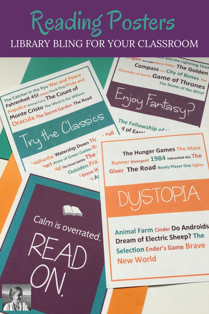 Want to help your middle school and high school students fall in love with reading? Check out this fun set of reading posters to draw attention to your beloved independent reading library and your choice reading program.