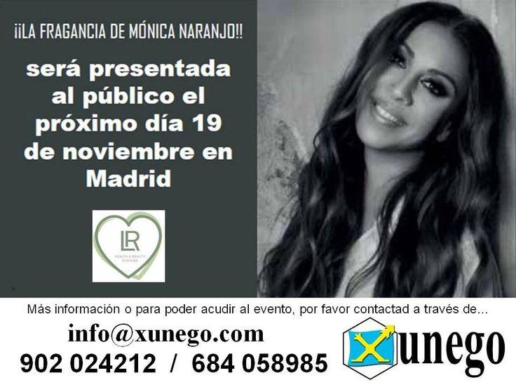 El perfume que crea LR Health & Beauty para Mónica Naranjo, se presenta el 19 de noviembre en Madrid. Para asistir o más información, por favor contáctanos.