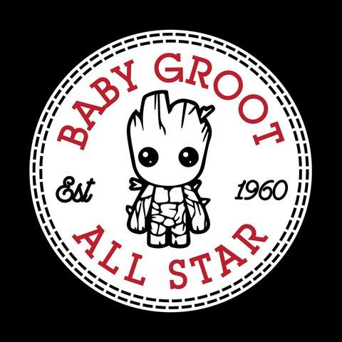 Guardians Of The Galaxy Baby Groot All Star Converse
