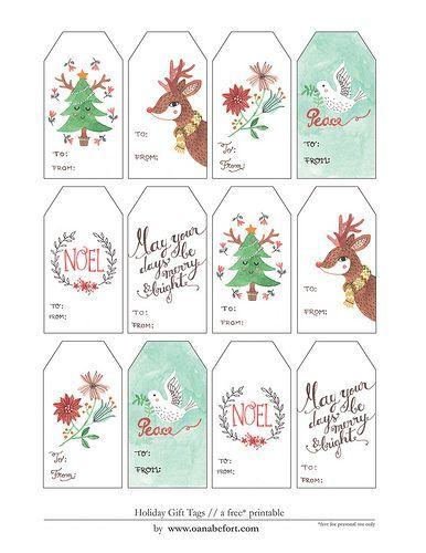 Pretty Christmas gift tags