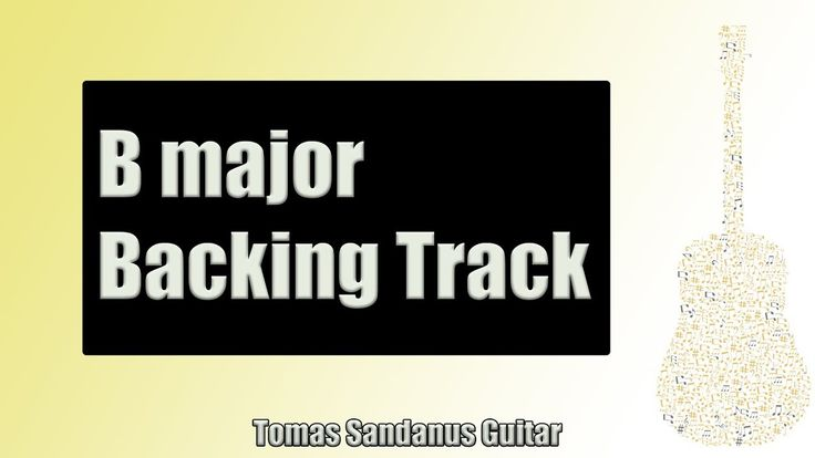 Backing Track in B Major Funky Reggae with Chords and B Major Pentatonic Scale