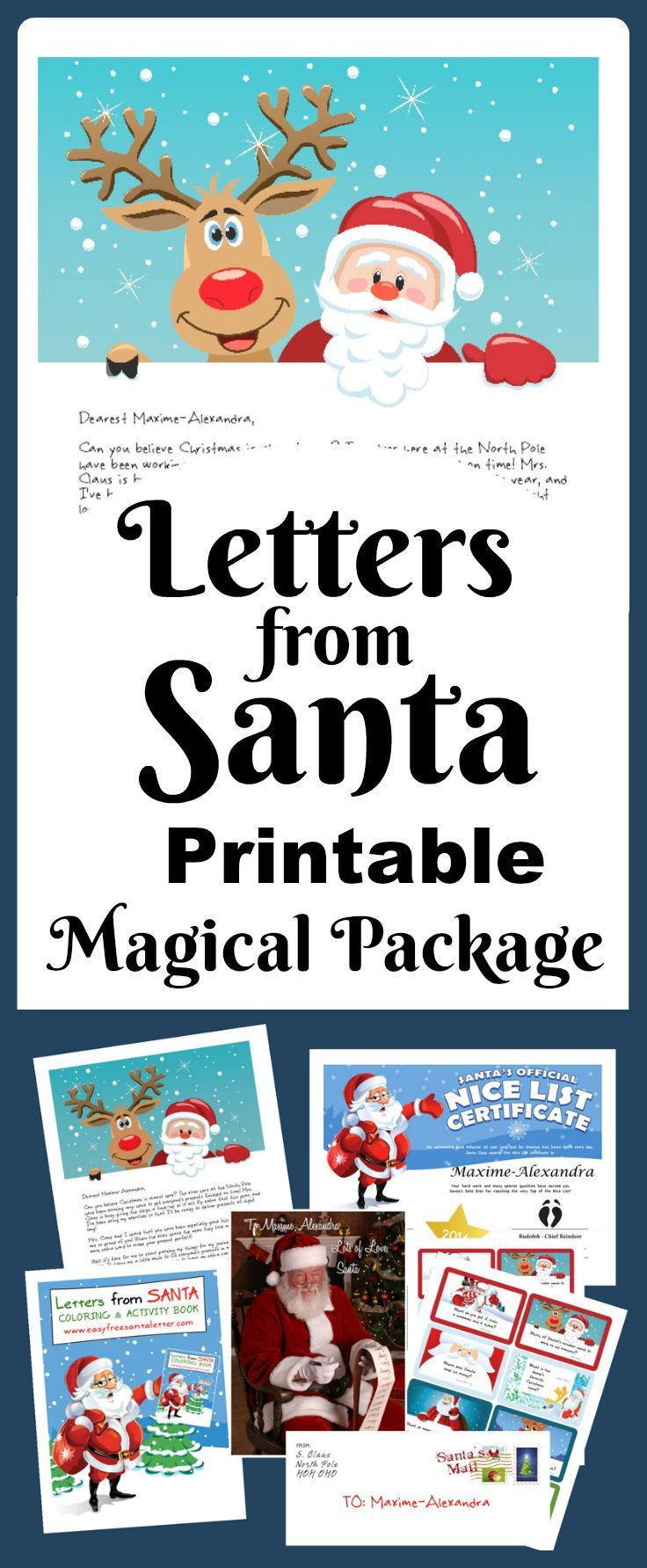 Letters from Santa - printable and personalized! Dozens of amazing combinations to help you create a highly personalized Santa Letter this Christmas! No more waiting by the mailbox!