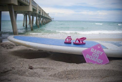 Beach baby announcement                                                                                                                                                                                 More