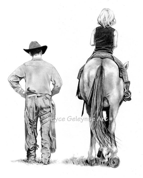 Famous nude cowgirl sketches can not