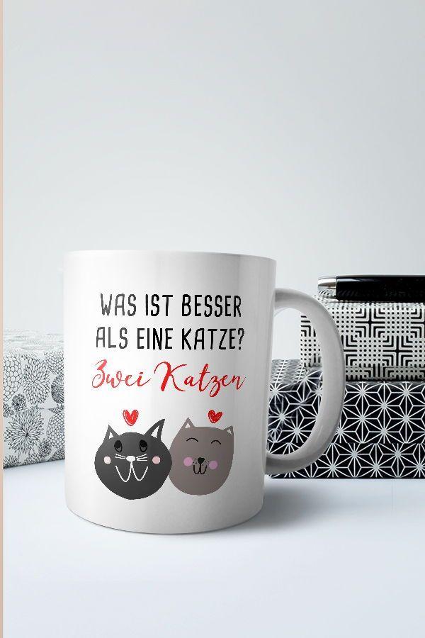 Kaffee Tasse Becher mit Motiv Große XXL Graue Katze
