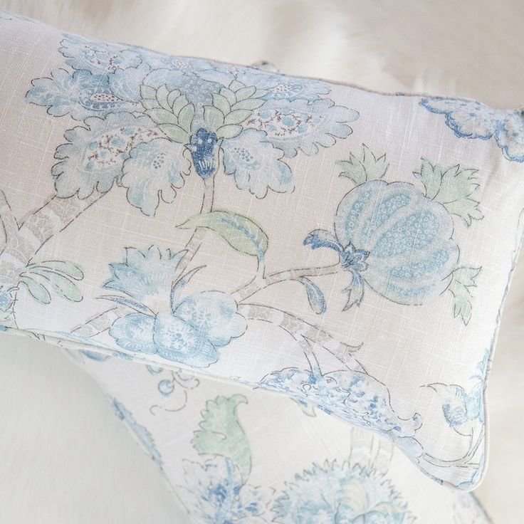 Handmade Charleston Aquamarine Cushion - The Tara Dennis Store