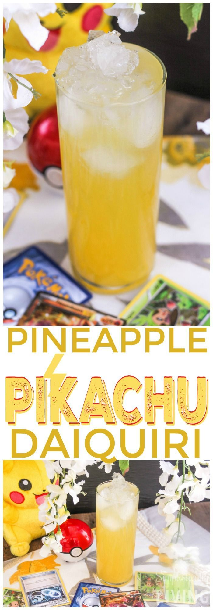 Pineapple Pikachu Daiquiri recipe - I need this after a long day of playing Pokemon Go!