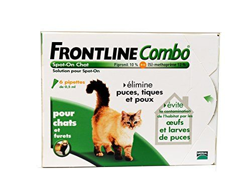 Merial - Chats - FRONTLINE COMBO - Chat - 6pip - Anti-puce, anti-tique Frontline http://www.amazon.fr/dp/B004L8T3R8/ref=cm_sw_r_pi_dp_1TTJvb1YJY23M
