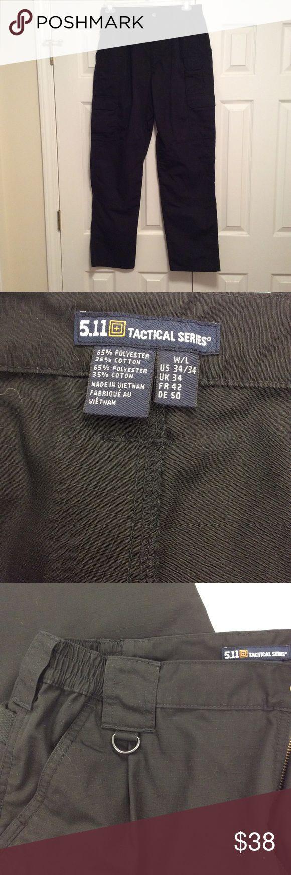 511 Tactical Series Black pants 34/34 511 Tactical Series Black pants 34/34, with action waist band.  EUC 5.11 Tactical Pants Cargo