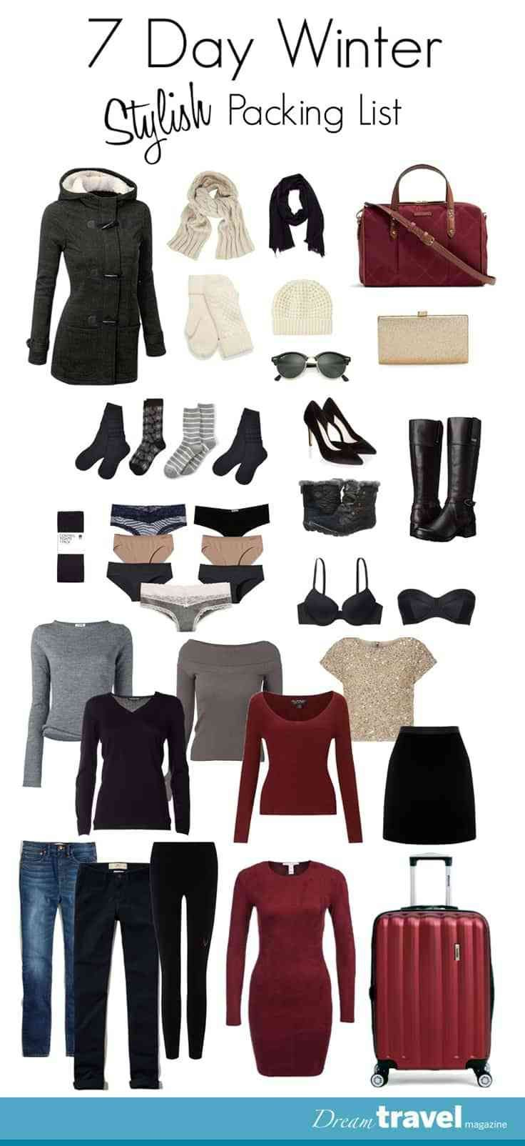 Packing for the winter does not have to be difficult. Pack clothes with two things in mind mix and matching and layering. Complimentary colours and items that can be dressed up or down will make packing for winter vacations in the city a breeze. More