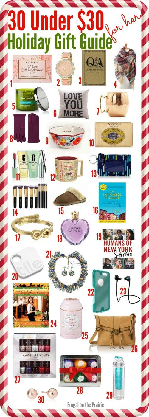 Looking for the perfect gift on a budget? Find some affordable options for your Christmas shopping list with this 30 Under $30: Holiday Gift Guide series.