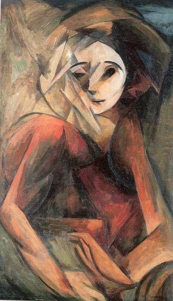 Antonín Procházka (Czech 1882–1945 Brno) [Cubism, Expressionism] Hamlet, 1912.