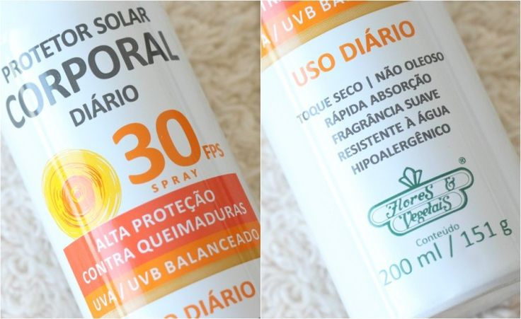 Protetor Solar Corporal Spray, Vegano. Flores e Vegetais 3