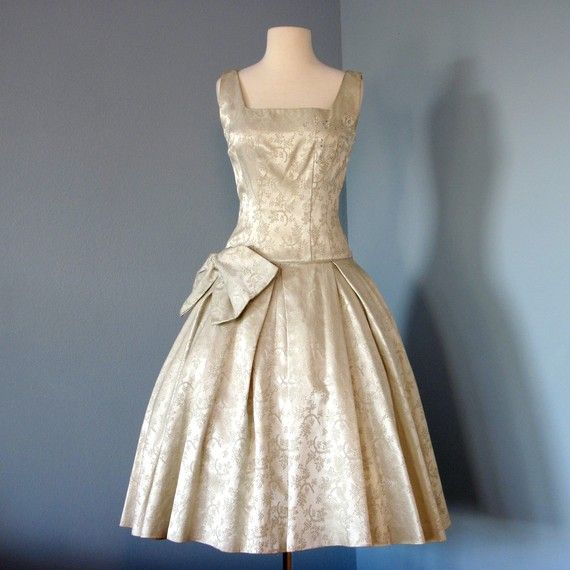 Champagne Vintage Dress What I D Love To Wear