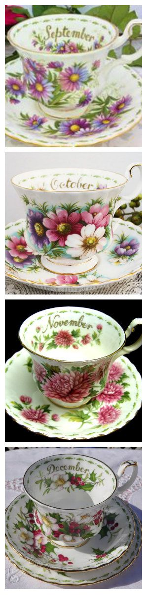 Royal Albert Flower of The Month 3 part