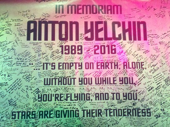 A huge memoriam for Anton Yelchin at the 50th anniversary celebration - Star Trek Las Vegas