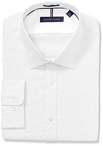4c7d7bab4 Beautiful Tommy Hilfiger Men's Dress Shirts Non Iron Slim Fit Solid Spread  Collar Mens Fashion Clothing