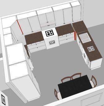 Kitchen plan. make it big enough to add an island