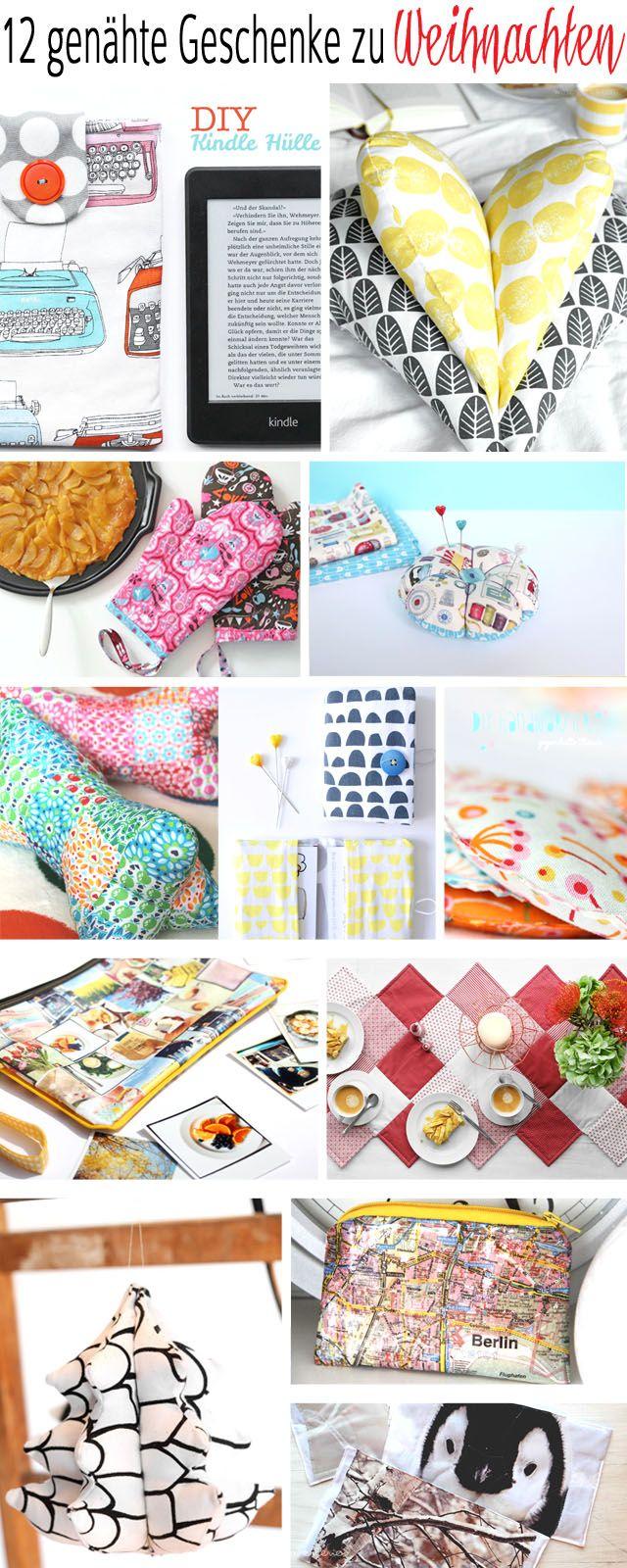 12 selbst genähte Weihnachtsgeschenke! #DIY #sewing #crafts | great sewing christmas ideas | zum Verschenken oder Behalten!