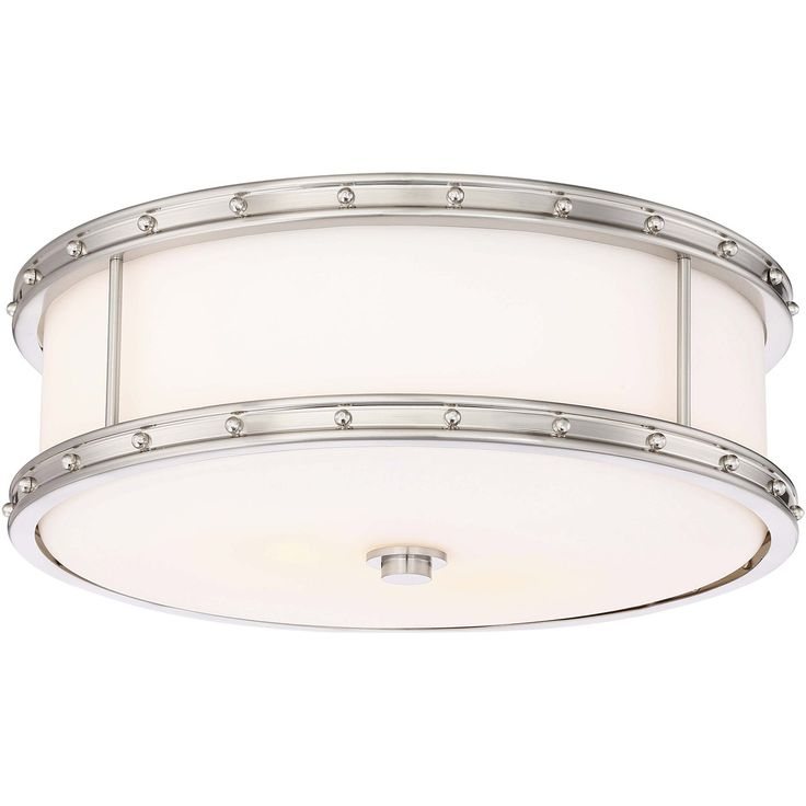 Minka-Lavery 827-84 Signature 3 Light 15 inch Brushed Nickel Flush Mount Ceiling Light