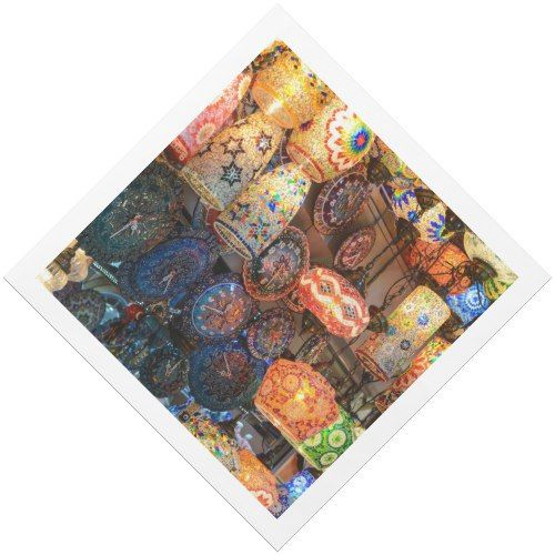Turkish Glass Lamps for Sale in Istanbul Market Paper Dinner Napkin