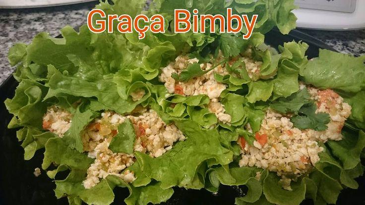Dieta/Bimby: Wraps de alface com recheio de frango - Dieta dos 31 dias.