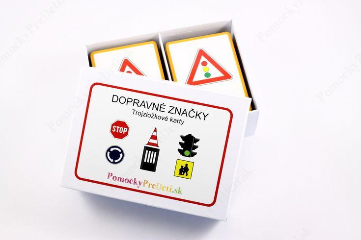 Dopravné značky, 3-zložkové karty