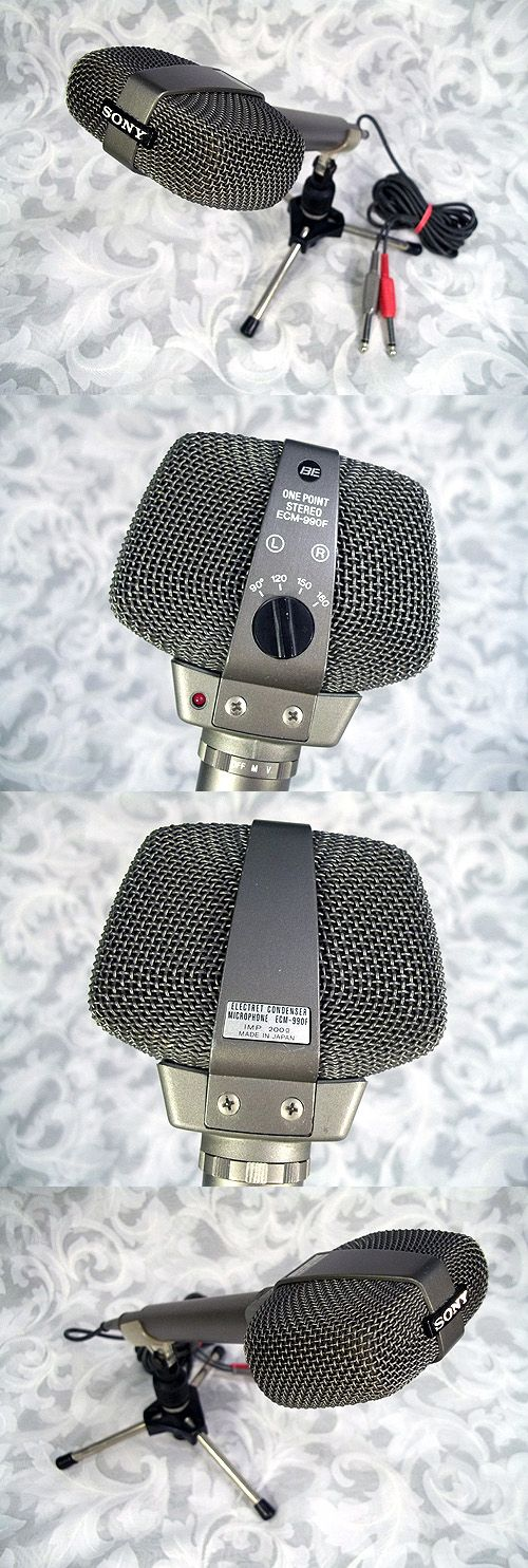 Sold Vtg SONY ELECTRET CONDENSER ONE POINT STEREO MICROPHONE ECM-990F Made in Japan