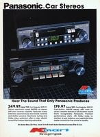 Panasonic Car Stereos 1984 Ad Picture