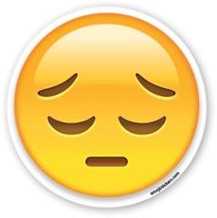 Pensive Face | Emoji Stickers